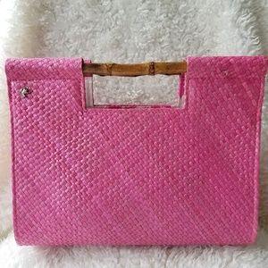 Pretty in Pink Woven Purse Putu by J. MacLear